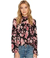Lucky Brand - Mock Neck Floral Top
