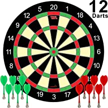 Magnetic Dart Board Game – 12 Darts – 6 Green and 6 Red Darts – Best Kids..