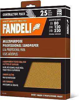 "Sponsored Ad – Fandeli, Assorted Grits (80,120,220), Sandpaper Sheets, Multipurpose for Furniture, Wood, Metal,""9x11"", 25 ..."