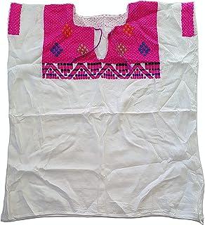 钻石墨西哥刺绣衬衫 - 正品手工制作雪纺刺绣