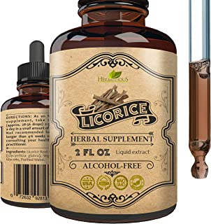 Licorice Root Extract - Pure Organic Glycyrrhiza Glabra Extract Supplement for Digestion Restore Respiratory Health Adrena...