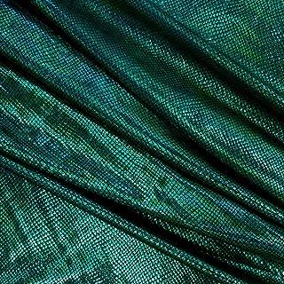 Ben Textiles Metallic Snake Dancewear Spandex Knit Green Fabric