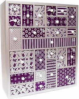 HYGGEHAUS Wooden Advent Calendar for Christmas 2020, Purple and Silver - Advent Calendar for Girls, Women, Teens, Grandpar...