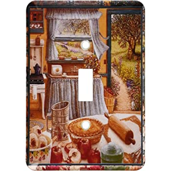 Apple Pie and Kitchen Art Toggle Switch 3D Rose Home Improvement 3dRose lsp/_167215/_2 Home Cooking and Country