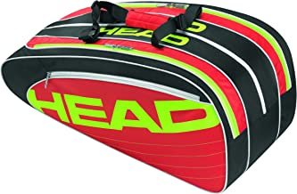 Head EliteCombi 6 pack Tennis Bag Black Red