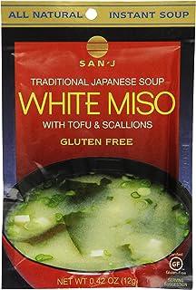 San-J White Miso Soup Envelopes, 0.42-Ounce Envelopes (Pack of 36)