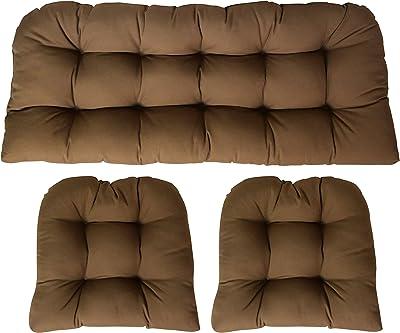 Amazon.com: Sunbrella lona negro grande, 3 piezas Con Cojín ...