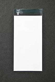 印刷透明封筒 長3 【500枚】 OPP 50μ(0.05mm) 表:白ベタ 切手/筆記可 静電気防止処理テープ付き 折線付き 横120×縦235+フタ30mm印刷可