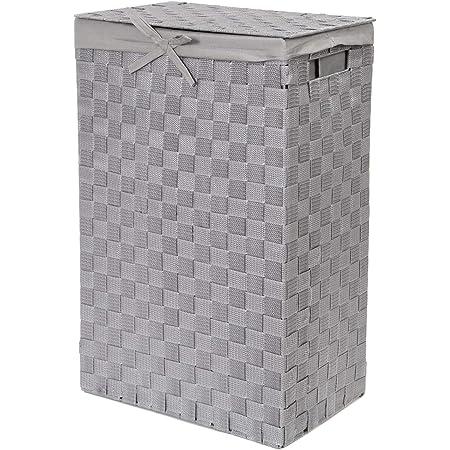Compactor Panier à Linge Rectangulaire Stan, Gris, polypropylene, 25 x 38 x H. 60 cm, RAN6894