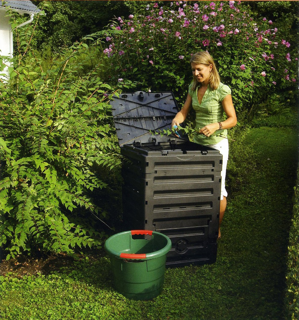 GRAF 628001 Eco-Master - Recipiente para Compost (450 L), Color Negro [Importado de Alemania]: Amazon.es: Jardín