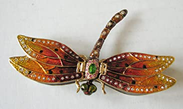 Bejeweled Collection Department 56 Dragonfly Enamel Jeweled Box