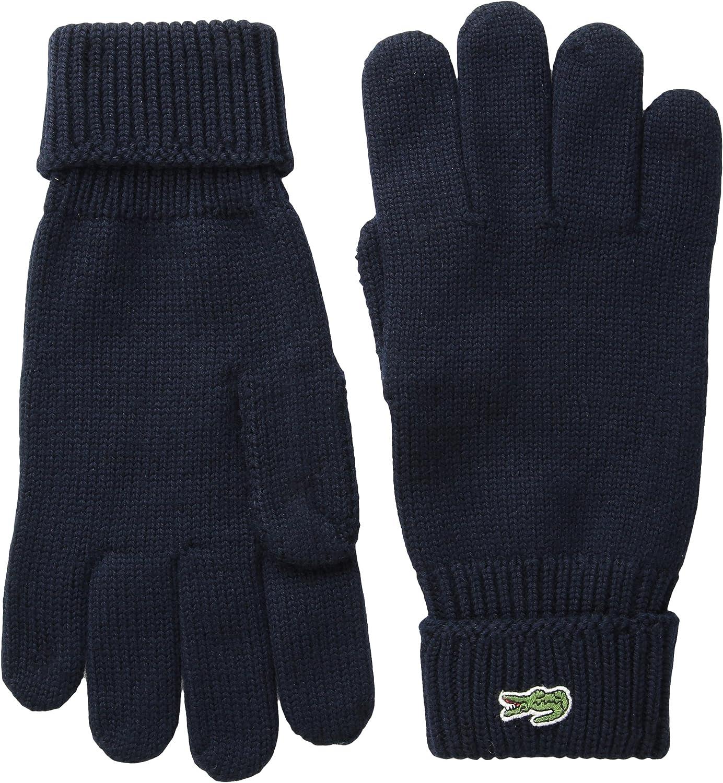 Lacoste Men's Green Croc Wool Gloves