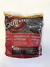 Grill Life Gas Grill Ceramic Black Replacement Briquette 9 Lbs Bag 60 Briquettes