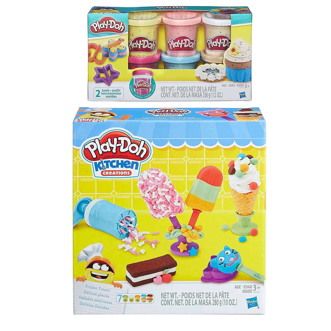 Play-Doh Kitchen Creations Frozen Treats Play Set + Play-Doh Confetti Compound Bundle