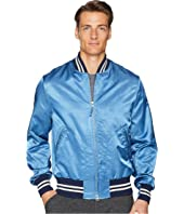 Todd Snyder + Champion - Indigo Satine Varsity Jacket