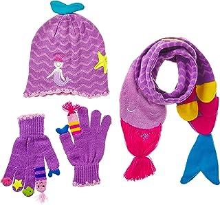 Kidorable Girls' Little Mermaid Hat Scarf Set