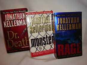 Set of 3 Jonathan Kellerman Paperbacks (Rage, Monster, Dr. Death)