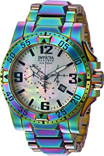 Invicta Men's Reserve Quartz Watch with Stainless-Steel-Plated Strap, Multi, 26 (Model: 25362)