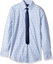 Tommy Hilfiger Boys' Long Sleeve Dress Shirt with Tie