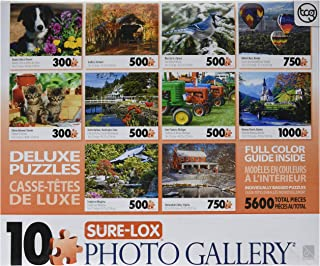 Sure Lox Art Gallery 10-in-1 Collection Puzzle Pack 5600 Pieces