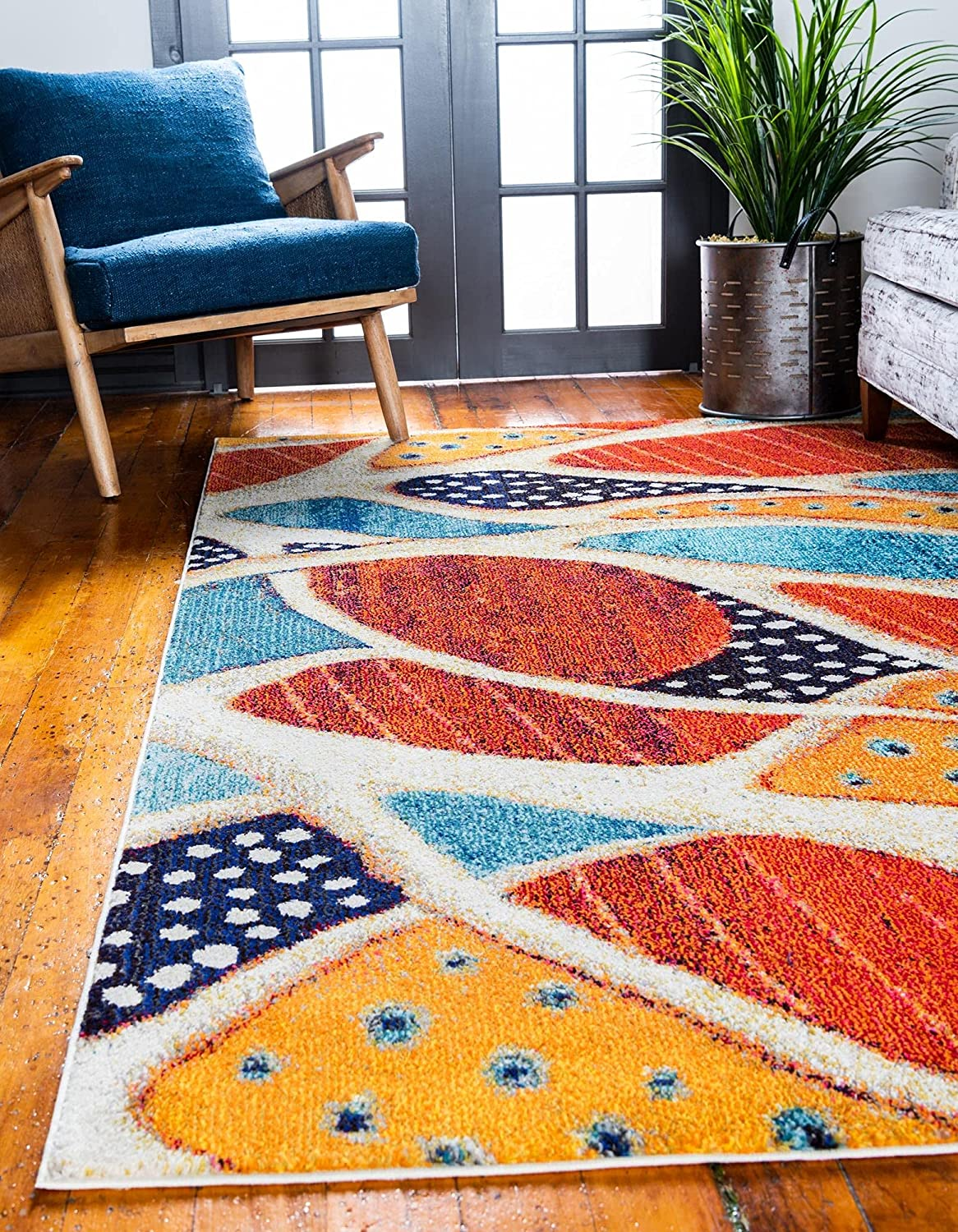 Unique Direct store Loom Positano Collection Coastal Abstract Max 58% OFF Modern Oceanic