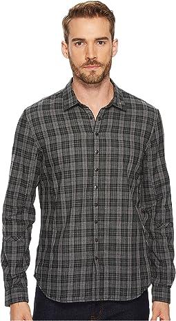 John Varvatos Star U.S.A. - Plaid Snap Front Sport Shirt