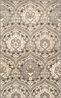 Superior Elegant Augusta Area Rug, Floral Scalloped Contemporary Pattern, 8' x 10', Light Blue