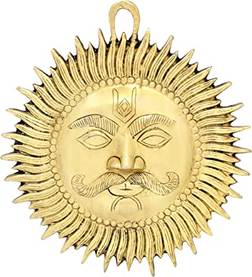 Two Moustaches Designer Sun Brass Wall Hanging Showpiece