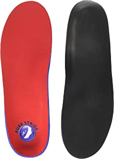 Pure Stride Foot Orthotics Insoles for Plantar Fasciitis, Metatarsal and Heel Spurs - Arch Support Insoles - Full Length M 7-7.5 / W 9-9.5