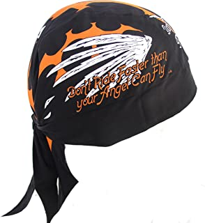 e817af14891498 Don't Ride Faster Than Your Angel Can Fly Motorcycle Bandana Du Rag  Headwrap Skull