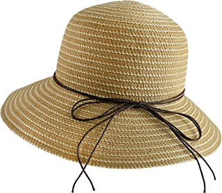 Wasolola Summer Straw Hats Girls Wide Brim Beach Women Sun Hat Straw Stylish Cap for Women UV Protection Cute Bow