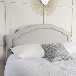Christopher Knight Home Broswell Light Grey Fabric Queen/Full Headboard