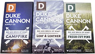 Duke Cannon Supply Co. - Great American Frontier Men's Big Brick of Soap Set (3 Pack Assortment 10 oz) Superior Grade Soap...