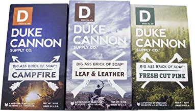 Duke Cannon Supply Co. - Great American Frontier Men's Big Brick of Soap Set (3 Pack Assortment 10 oz) Superior Grade Soap Bar With Unique, Outdoor, Masculine Outdoor Scents