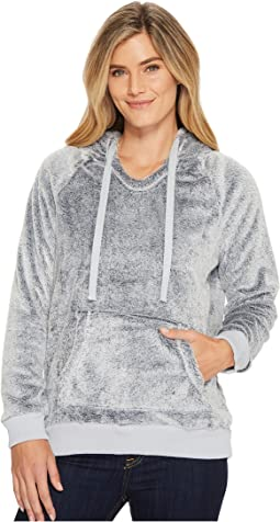 Dylan by True Grit - Sparrow Softest Fleece Faux-Fur Cozy Hoodie with Contast Hood Trim