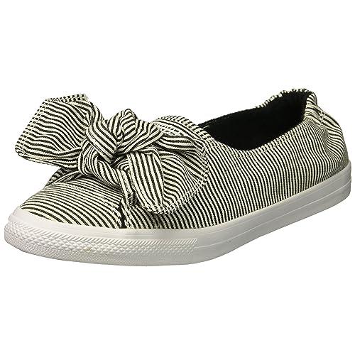 c3aed491eb3e Converse Women s Knot Striped Chambray Slip on Sneaker