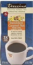 Teeccino Dandelion Caramel Nut Chicory Herbal Tea, Caffeine Free, Acid Free, Prebiotic Coffee Substitute, 25 Tea Bags
