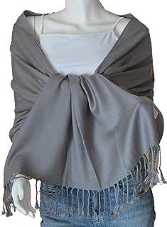 SCARF_TRADINGINC® Large Soft 100% Twill Pashmina Scarf Shawl Wrap