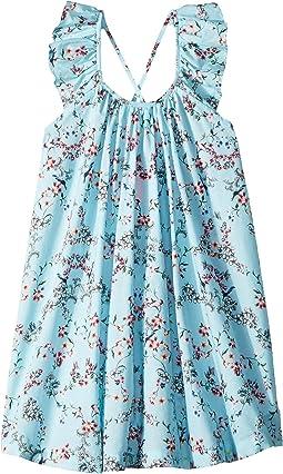 Blue Birds Garden Frill Dress Cover-Up (Toddler/Little Kids)
