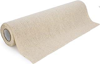 100%Mosel Chemin de table en lin naturel (28 cm x 5 m) - Chemin de table décoratif en tissu naturel - Décoration de table ...