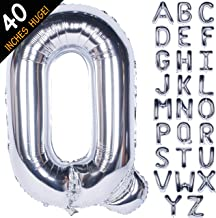 Letter Balloons 40 Inch Giant Jumbo Helium Foil Mylar for Party Decorations Silver Q