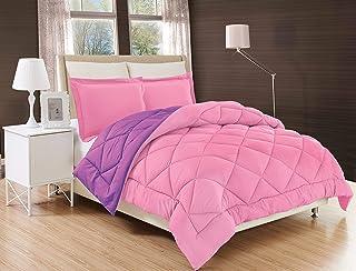 Elegant Comfort All Season Comforter and Year Round Medium Weight Super Soft Down Alternative Reversible 3-Piece Comforter...
