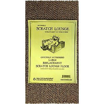 Scratch Lounge Floor Refill, Large - World's Best Cat Scratcher - Corrugated Cardboard Reversible Scratch Pad - for Large Scratchers…
