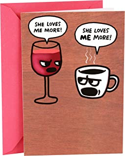 Hallmark Shoebox Funny Birthday Card for Her (Wine and Coffee)