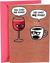 Hallmark Shoebox Funny Birthday Card for Her (Wine and Coffee)