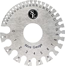 SE Dual-Sided Non-Ferrous Wire Gauge, 0-36 American Standard (AWG) and SAE - JT47WG-C