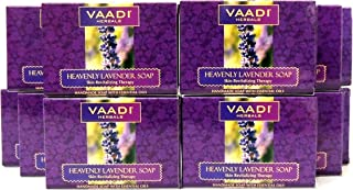 Lavender Soap (Lavender Extract Bar Soap) with Rosemary Oil - Handmade Herbal Soap (Aromatherapy) with 100% Pure Essential Oils - ALL Natural - Skin Regeneration Therapy - Each 2.65 Ounces - Pack of 12 (32 Ounces, 2 Lb) - Vaadi Herbals