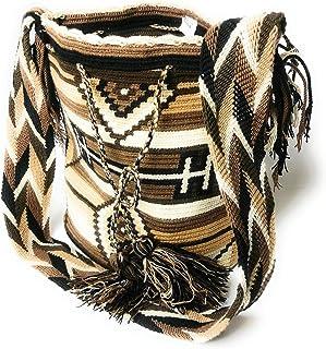 Pre colombino diseño Wayuu tejido a mano crochet bolso de hombro mochilla