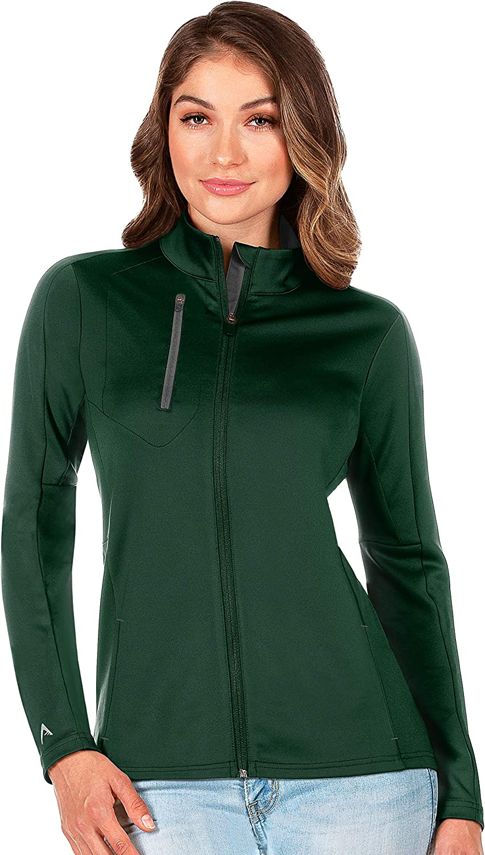 Antigua Women's Generation Full Zip Jacket, Dark Pine/Carbon, Small