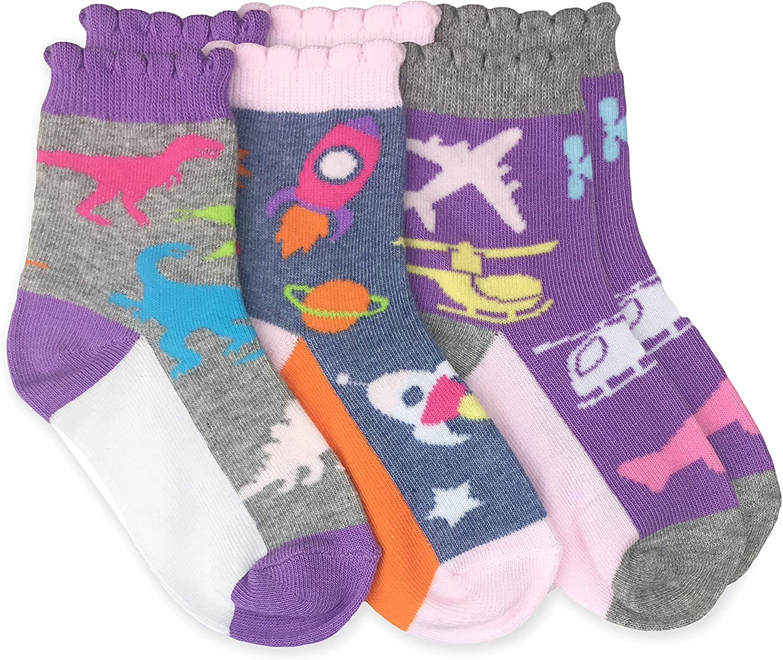 Childrens Boys Girls Cotton Rich 3 Pack of Dinosaur Design Socks